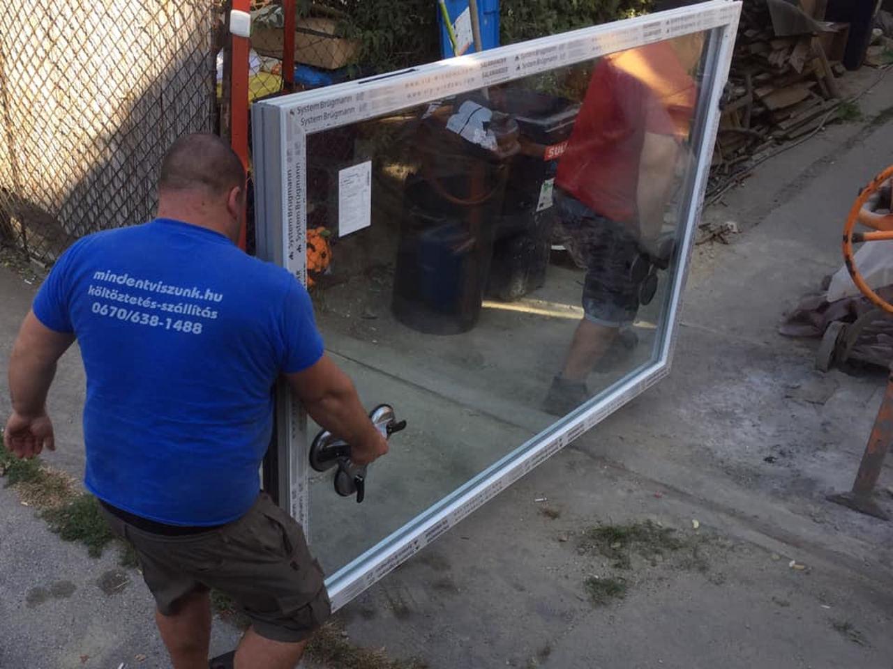 üvegszállítás